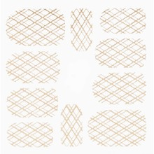 No Label Metallic Filigree Stickers SFLS-009 Gold