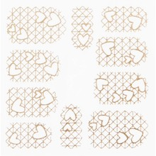 No Label Metallic Filigree Stickers SFLS-010 Rose Gold