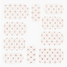 No Label Metallic Filigree Stickers SFLS-008 Rose Gold