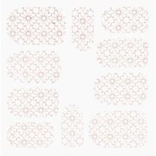 No Label Metallic Filigree Stickers SFLS-007 Rose Gold