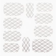 No Label Metallic Filigree Stickers SFLS-009 Silver
