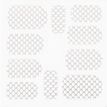No Label Metallic Filigree Stickers SFLS-003 Silver