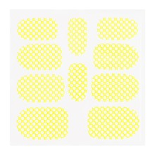 No Label Metallic Filigree Sticker KOR-015 Neon Yellow
