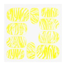 No Label Metallic Filigree Sticker KOR-014 Neon Yellow