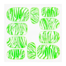 No Label Metallic Filigree Sticker KOR-014 Neon Green