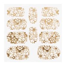 No Label Metallic Filigree Sticker KOR-005 Gold