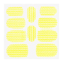 No Label Metallic Filigree Sticker KOR-004 Neon Yellow