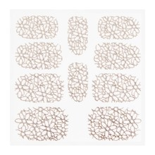 No Label Metallic Filigree Sticker KOR-003 Silver