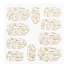 No Label Metallic Filigree Sticker LNS-11005 Goud
