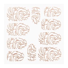 No Label Metallic Filigree Sticker LNS-11005 Rose Gold