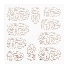 No Label Metallic Filigree Sticker LNS-11005 Silver