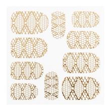No Label Metallic Filigree Sticker LNS-11012 Gold