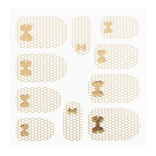 No Label Metallic Filigree Sticker LNS-11013 Gold