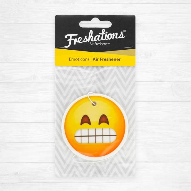TBU car Air fresheners by Freshations | Emoticon - Teeth | Black Ice