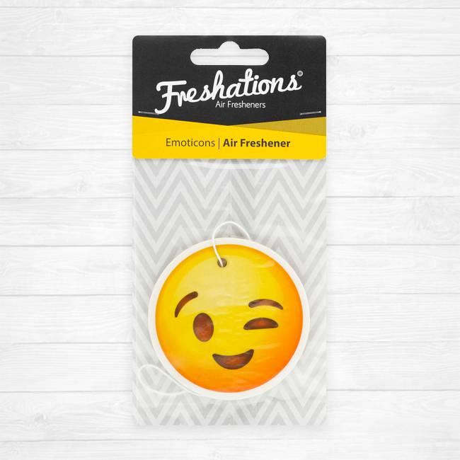 Lufterfrischer von Freshations | Emoticon - Wink | Rose