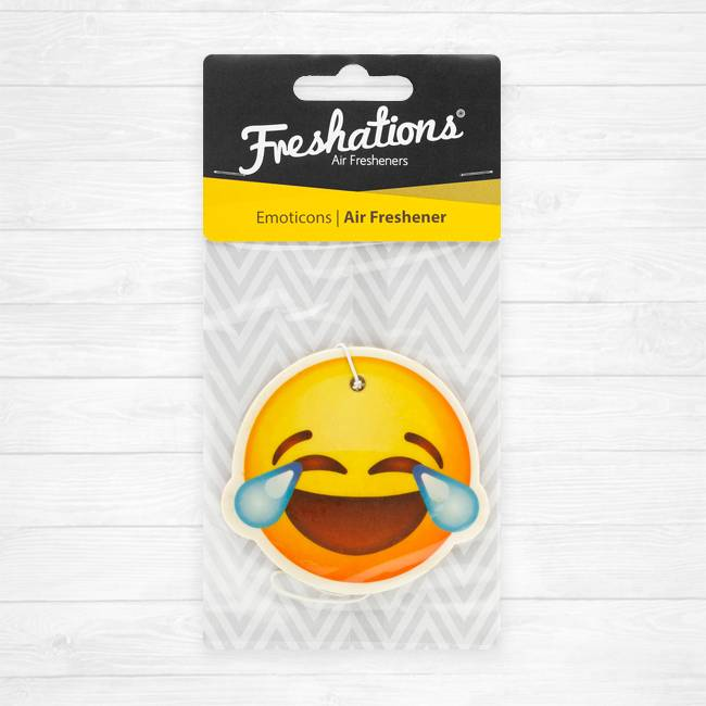 TBU car Lufterfrischer von Freshations | Emoticon - Laughing tears | Fruit Coctail