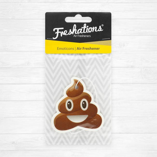 Air fresheners by Freshations   Emoticon - Poo   Coconut