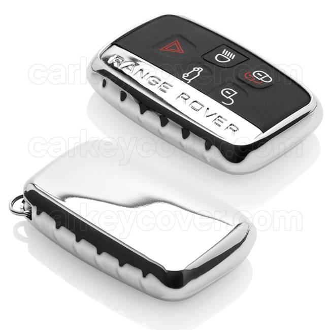 Range Rover Car key cover - TPU Protective Remote Key Shell FOB Case Cover - Chrome