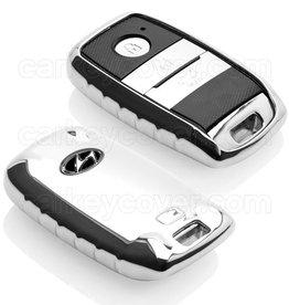 TBU car Hyundai Funda Carcasa llave - Cromo plateado