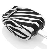Opel Autoschlüssel Hülle - Silikon Schutzhülle - Schlüsselhülle Cover - Zebra
