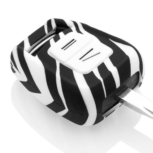 TBU car TBU car Sleutel cover compatibel met Vauxhall - Silicone sleutelhoesje - beschermhoesje autosleutel - Zebra