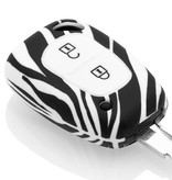 Nissan Car key cover - Silicone Protective Remote Key Shell - FOB Case Cover - Zebra
