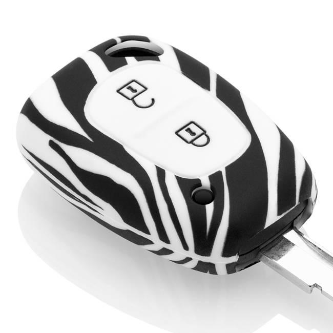 TBU car TBU car Autoschlüssel Hülle kompatibel mit Opel 2 Tasten - Schutzhülle aus Silikon - Auto Schlüsselhülle Cover in Zebra