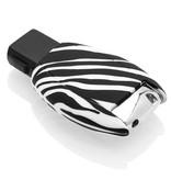 Mercedes Autoschlüssel Hülle - Silikon Schutzhülle - Schlüsselhülle Cover - Zebra