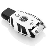 Mercedes Car key cover - Silicone Protective Remote Key Shell - FOB Case Cover - Zebra