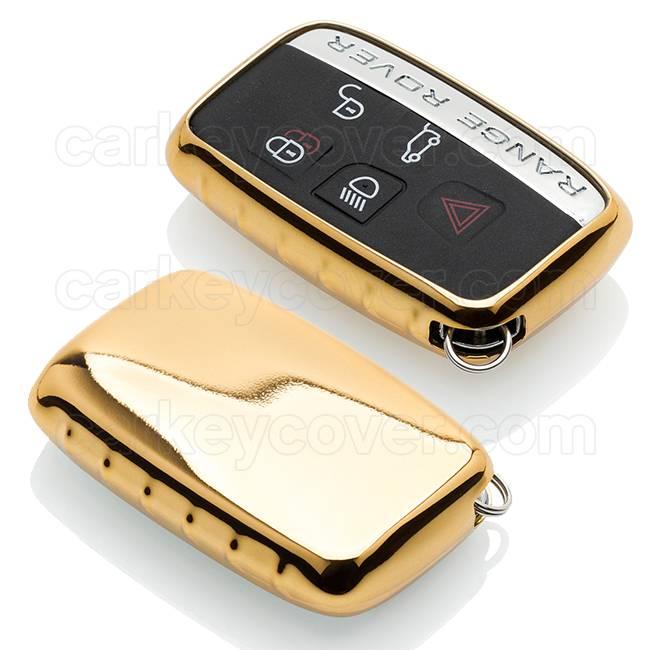 TBU car TBU car Sleutel cover compatibel met Range Rover - TPU sleutel hoesje / beschermhoesje autosleutel - Goud