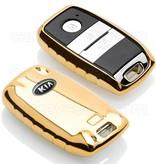 TBU car TBU car Sleutel cover compatibel met Kia - TPU sleutel hoesje / beschermhoesje autosleutel - Goud