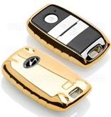 TBU car TBU car Sleutel cover compatibel met Hyundai - TPU sleutel hoesje / beschermhoesje autosleutel - Goud