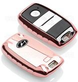TBU car TBU car Autoschlüssel Hülle kompatibel mit Hyundai 3 Tasten (Keyless Entry) - Schutzhülle aus TPU - Auto Schlüsselhülle Cover in Roségold