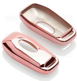 Ford Car key cover - TPU Protective Remote Key Shell FOB Case Cover - Rose Gold