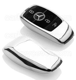 TBU car Mercedes Funda Carcasa llave - Cromo plateado