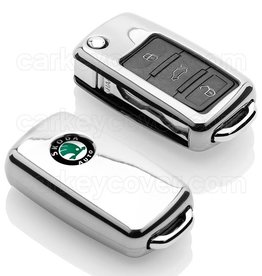 Skoda Car key cover - Chrome