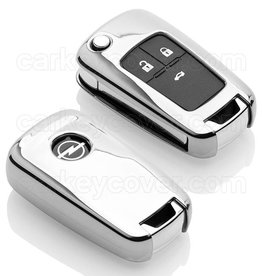 TBU car Opel Schlüsselhülle - Silber Chrom
