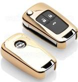 TBU car TBU car Sleutel cover compatibel met Opel - TPU sleutel hoesje / beschermhoesje autosleutel - Goud