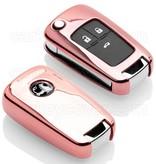 Vauxhall Autoschlüssel Hülle - TPU Schutzhülle - Schlüsselhülle Cover - Roségold