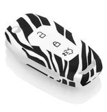 Ford Capa Silicone Chave do carro - Capa protetora - Tampa remota FOB - Zebra