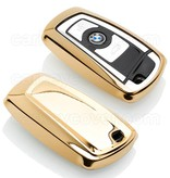 BMW Car key cover - TPU Protective Remote Key Shell FOB Case Cover - Gold