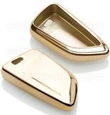 TBU car Autoschlüssel Hülle für BMW 4 Tasten (Keyless Entry) - Schutzhülle aus TPU - Auto Schlüsselhülle Cover in Gold