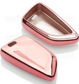 BMW Car key cover - TPU Protective Remote Key Shell FOB Case Cover - Rose Gold
