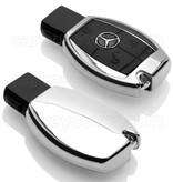 TBU car TBU car Sleutel cover compatibel met Mercedes - TPU sleutel hoesje / beschermhoesje autosleutel - Chrome