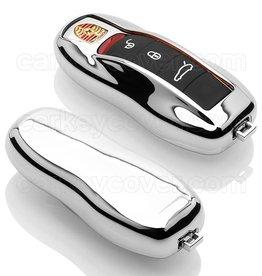 TBU car Porsche Schlüsselhülle - Silber Chrom