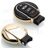 TBU car TBU car Autoschlüssel Hülle kompatibel mit Mini 3/4 Tasten (Keyless Entry) - Schutzhülle aus TPU - Auto Schlüsselhülle Cover in Gold