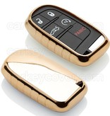 TBU car TBU car Sleutel cover compatibel met Jeep - TPU sleutel hoesje / beschermhoesje autosleutel - Goud