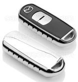 TBU car TBU car Sleutel cover compatibel met Mazda - TPU sleutel hoesje / beschermhoesje autosleutel - Chrome