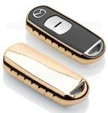 Mazda Autoschlüssel Hülle - TPU Schutzhülle - Schlüsselhülle Cover - Gold