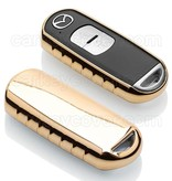 TBU car TBU car Autoschlüssel Hülle kompatibel mit Mazda 2 Tasten (Keyless Entry) - Schutzhülle aus TPU - Auto Schlüsselhülle Cover in Gold